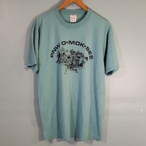 vintage pnw o•mok• see t shirt SZ L